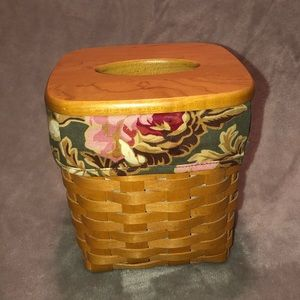 Longaberger tall tissue basket